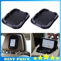 Wholesale 4X Car Styling Multi functional car Anti Slip pad Rubber Mobile Sticky Dashboard Phone Shelf Antislip Mat For GPS MP3 Cell Phone