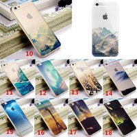 Wholesale New Arrivals Cell Phone Cases Clear Back Case Cover TPU Ultra Thin Transparent Scenery For iPhone S Inch CF3