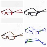 Wholesale 200PCS LJJL39 New Unisex Reading Glasses Plastic Frame Magnetic Reading Glasses Adjustable Foldable Flexible Hyperopia