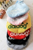 Wholesale 50pcs Pet Dog Clothes Clothing Coat Hooded Cotton Sweater Shirt Dress Winter Spring Summer Autumn