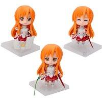 arts plastic dolls - 3pcs Set Japan Anime CM Sword Art Online Juguetes Asuna PVC Action Figure quot Toys Best Gifts Brinquedos Kids Toys Doll