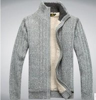 Wholesale 2015 mens sweaters men thick long sleeve wool cardigan men sweater jacket casual knitted sweater hbjmho9