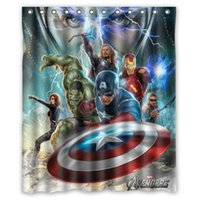 avengers curtains - The Avengers Captain America Thor All Heros Custom Waterproof Shower Curtain Bathroom Curtains x72 x72 x72 x72 inches