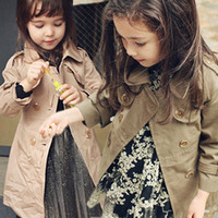 Spring / Autumn add down kids - Winter Girl Trench Coat Korean Long Style Children Coat Thicken Inside Add Cotton Good Quality Kids Outwear Age WD410