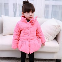 Wholesale New free ship New Arrival girls winter Bow coat Bow down baby coat winter jackets for girls jackets Colors