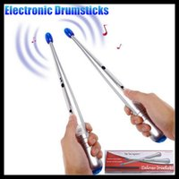 air music instruments - Pair Electronic Air Drum Rock Beat Rhythm Stick Rod Bar Party Gimmick Music Percussion instrument Adult amp Children