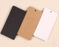 Wholesale cm Kraft Paper Party Wedding Favor Gift Label Wish Greeting Cards DIY Rectangle Tags Label Clothing Price Hang Tag