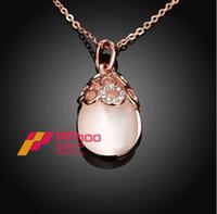 beautiful eye shapes - Hot Ladies European and American fashion beautiful cat s eye stone teardrop shaped necklace AKN028