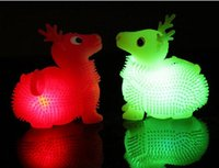 Wholesale LED Light Up Toys Electronic Pet Toys Flashing Dogs Deer Angry Bird Smiling Face Frog Rabbit Bouncing Balls Finger Toys