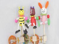 Wholesale 2015 Kids Boys Girls Activity Amusement Toys Noisemaker Shake the Drum Wood Sharking Durms Kids Children Birthday Gifts Wooden Toy D3684