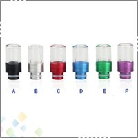 Wholesale 510 Drip Tip Flat Aluminum Glass drip tip for Electronic Cigarette Tank Atomizer Mouthpiece for EGO RBA RDA Atomizer DHL Free