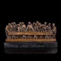 art statue - Classical Bronze statues God s Last Supper Jesus Christ figurines Sculpture for Home Decor World Famous Collection Works of Art
