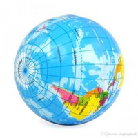 atlas world book - World Map Foam Earth Globe Stress Relief Bouncy Ball Atlas Geography Toy Gift A5