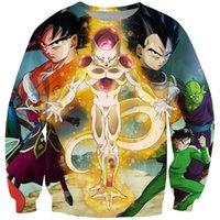 anime jumpers - Classic Anime Dragon Ball Z Resurrection F Super Saiyan D Sweatshirt Jumper Frieza Vegeta Goku Hoodies Pullovers Outerwear