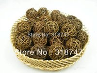bamboo wicker - CM Natural Color Woven Wicker Balls Hotel Wedding Home Decor Country Style Rattan Ball
