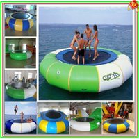 Wholesale 2016 hotsales Dhl freeshipping water inflatable jumping bed m diameter with a air pump as a gift