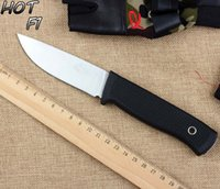 knives free shipping - FK F1 Straight Camping Knife Cr13 Blade Sanding Surface Multi Knives Fixed Hunting Knife With ABS Handle K Shealth HK Post