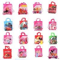 Cheap Free shipping mixed many design baby girl Cartoon Drawstring Backpack Bag,Children Kids Bag ,schoobag,baby birthday party gift