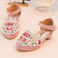 pu shoes - Childrens Korean Style Princess Shoes New Arrival Spring Girls Colorful Crystal Fashion PU Leather Dress Shoes