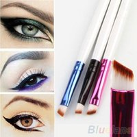 Wholesale Fashion Womens Oblique Angled Eyebrow Brush White Handle Eye Liner Brow Tool MNT NOP