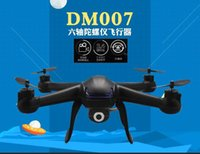 Wholesale Top Quality Camera Drones DM007 Ghz Axis Gyro RC Quadcopter Drone UAV RTF UFO with MP HD Camera Drones Free DHL