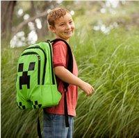 Wholesale School Bags Minecraft Backpack Game My World Top Quality Children Kids Boys Mochila Double Shoulder Bag Block Coolie Strange PVC Waterproof