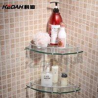 Wholesale Cody KEDAH space aluminum bathroom glass shelving racks double angle brackets L5621