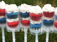 Wholesale 50 Kids pops in push up pop container Cake pop Candy Push up Children Gift for Christmas Decorations