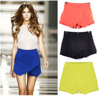Wholesale 2015 summer in Europe and the big cross cascading irregular recreational joker shorts women s skirts shorts