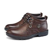 Wholesale Genuine Leather Men shoes Comfortable Soft Handmade Flats Elegant Atmosphere Winter Warm Dress Shoes