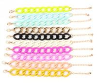Wholesale New Jewelry Statement Bracelate Colors rainbow chain bracelets fashion jewelry women bracelets