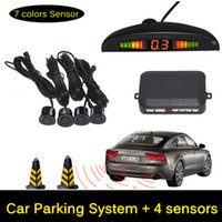Wholesale car dvr DC V Car Parking system LED Display Reverse Backup Radar Sound Alert Sensors Black White Silver Gray Blue Yellow Red