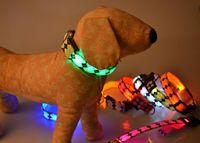 Wholesale 8colors high quality LED flashing dog collar LED pet collar necklace cat dog collar freeshipping