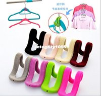 articles food - Flocking hook Hangers mini hook Non slip hanger partner practical articles for daily use JA32