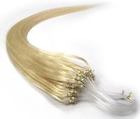 Cheap Brazilian Hair micro loop hair extension Best Light Brown Straight loop hair extensions 1g