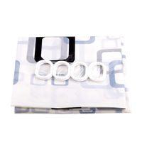 Wholesale Shower Curtain Bathroom Waterproof Vogue PEVA Fabric With Hooks
