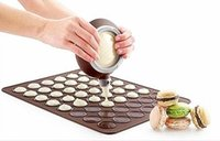 Wholesale Large holes Macarons Silicone Mats and Dessert Decorating Nozzle Set Oven Pan Pad Mold Bakeware Baking Tools