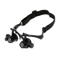 Wholesale X X X X Binocular Loupe Magnifying Glasses Magnifier with LED Light for Jewelry Appraisal Watch Repair