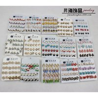 Wholesale Korea Brand Crazy Sale Sterling Silver Earrings Ear Nail Wedding Stud Earring Crystal Head Jewelry Present candy color xy144