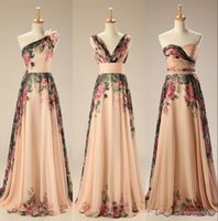 Wholesale 2017 Evening Gowns Real Sample Mixed Styles Floor Length Long Floral Print Flowers Beach Evening Dresses Formal Gowns