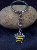 bee keychain - Enamel Key Ring Pendant Drip Bee Charm Keychain Bag Key Chain Decorative Jewelry