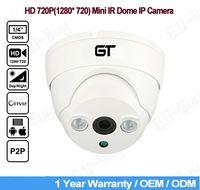 Wholesale Night Vision P2P Mini Dome IP Camera P Onvif H CMOS mm Lens