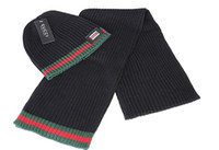 Wholesale HXF set color men women warm wool hat cucc knitted Hats Scarves Sets