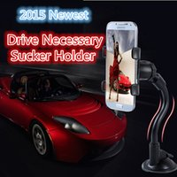 Al por mayor-S5 Sucker coche del sostenedor del teléfono de Samsung Nota 4 Parabrisas Soporte Soporte para Iphone 6 Accesorios GPS 5 coches chupan Cell Phone Holder