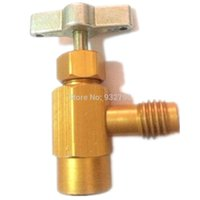 Wholesale Heavy Duty Automotive Car AC R a R Refrigerant Can Bottle Tap Opener Dispensing Valve Tool ACME Thread Adapter HVAC order lt no tr