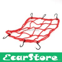 Wholesale 2014 Hot Sale Time limited Freeshipping Motorbike Motorcycle Cargo Hooks Hold Down Web Net Bungee Storage Carrier Red