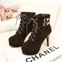 Cheap martin boots shoes ladies Best women thin heels shoe