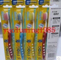 Wholesale Frog toothbrush genuine new small brush guard gingival Series A Silky soft bristle soft bristled toothbrush