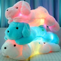 best friend stuffed animal - New Year CM Length Creative Night Light LED Lovely Dog Stuffed and Plush Toys Best Gifts for Kids and Friends YZT0145B