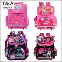 Wholesale New Winx School Bag Orthopedic Girls Princess Children School Bags Sofia the First Monster High School Backpack Mochila Infantil